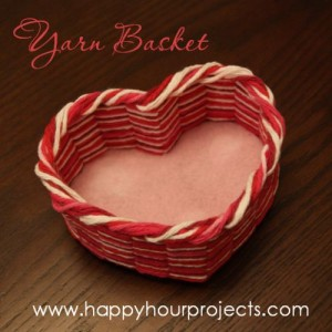 Heart-Shaped Yarn Basket