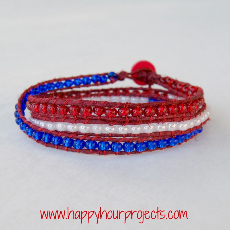 Red, White & Blue Wrap Bracelet