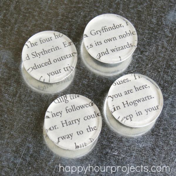 Harry Potter Glass Tile Magnets