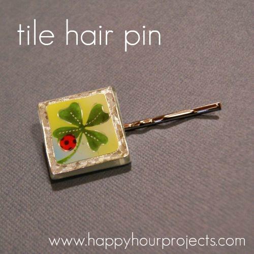 Glass Tile Hair Pin
