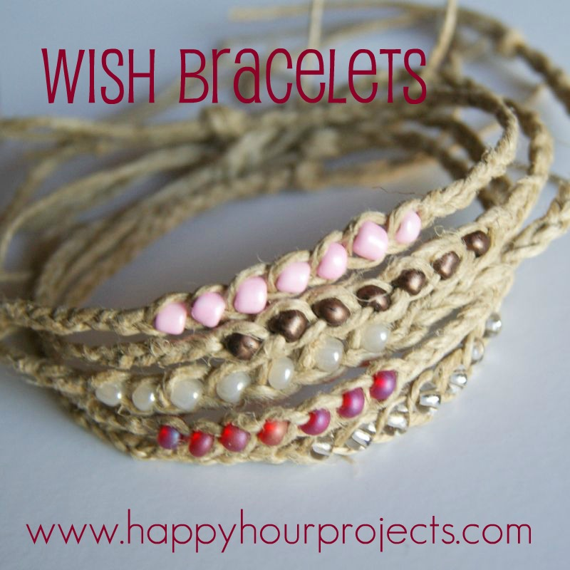 Wish Bracelets at www.happyhourprojects.com