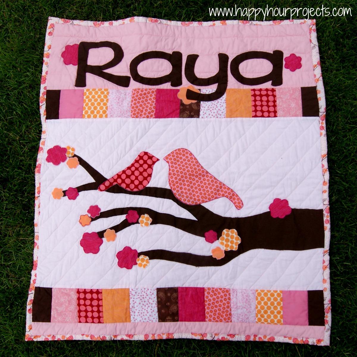 Raya's Name Quilt