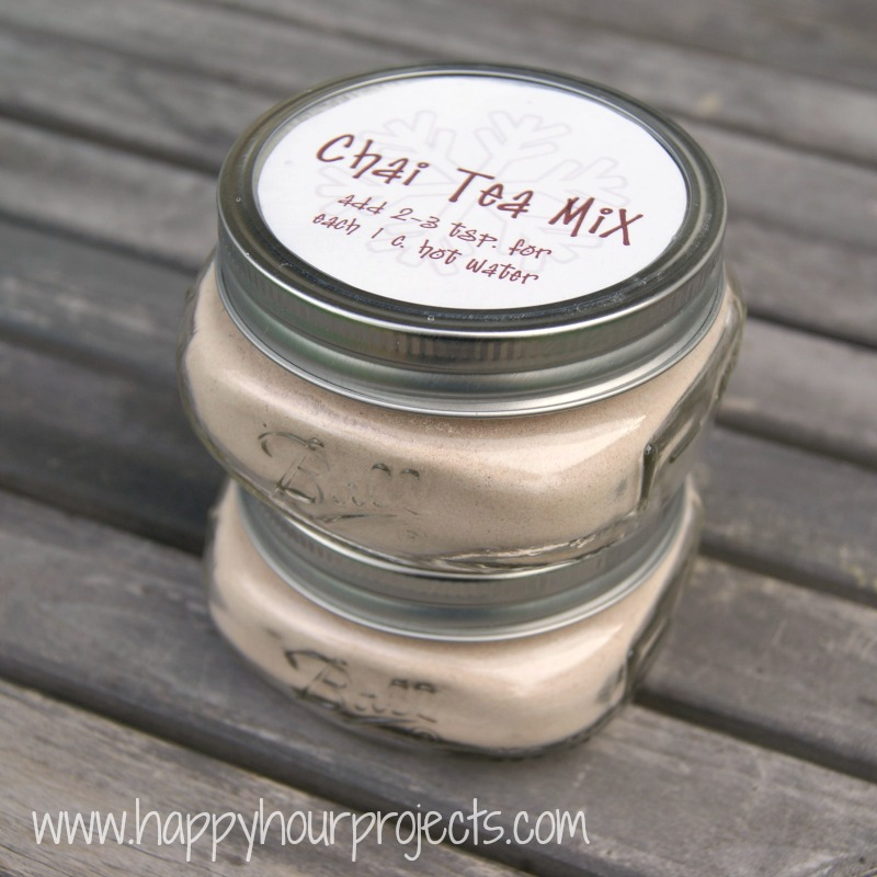 Instant Chai Tea Mix at www.happyhourprojects.com