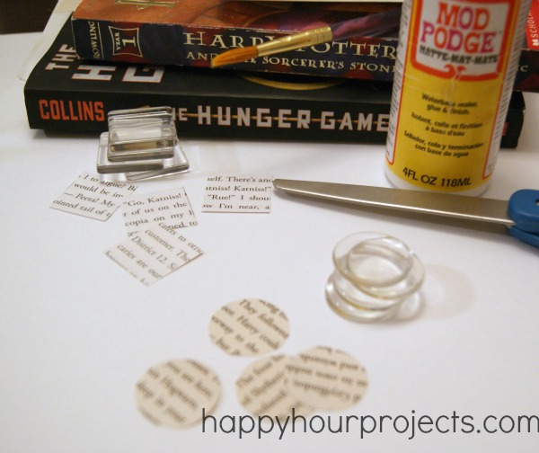 Book Page Magnets
