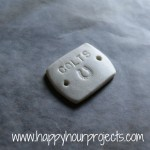 Stamped Polymer Clay Bracelet