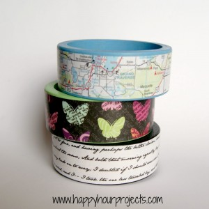 DIY Mod Podge Wood Bracelets
