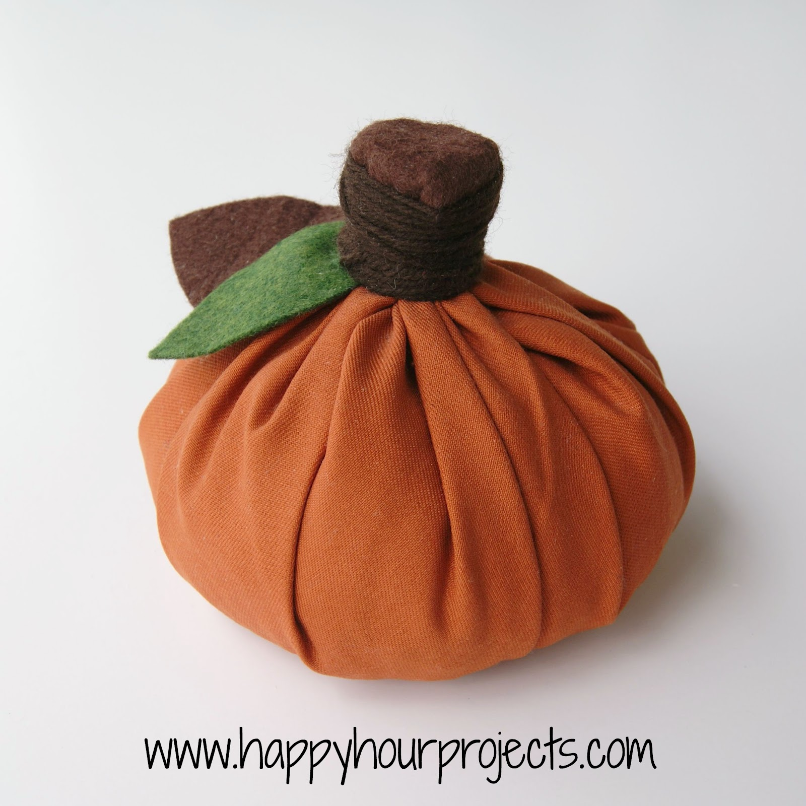 No-Sew Fabric Pumpkin