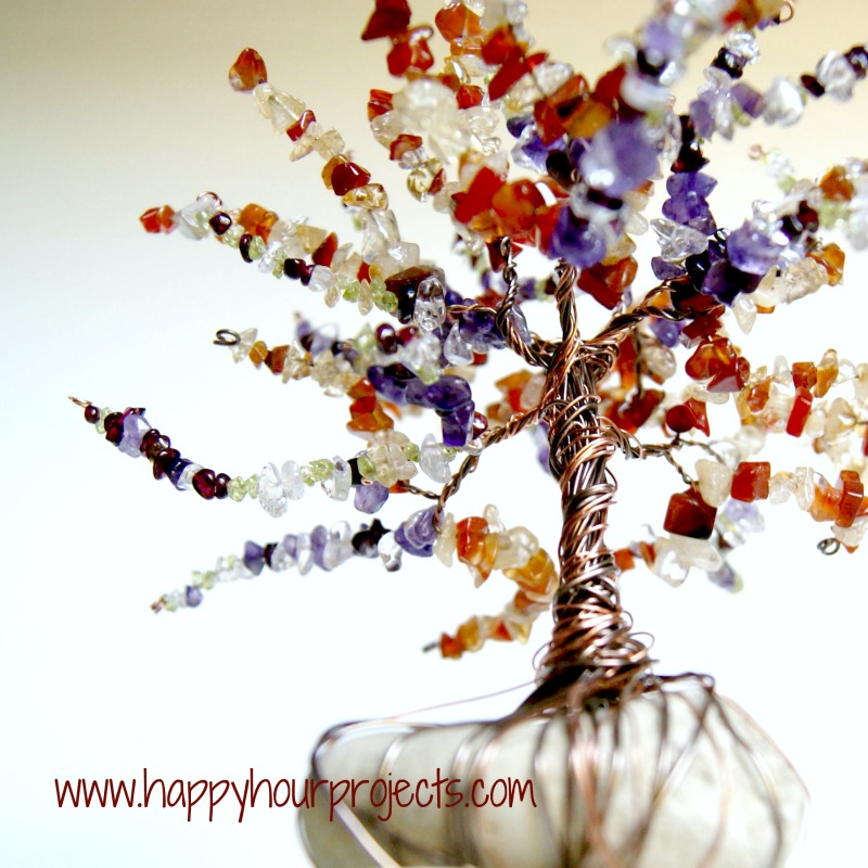 Wire Wrapped Beaded Family Tree