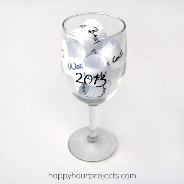 New Year's Wish Glass