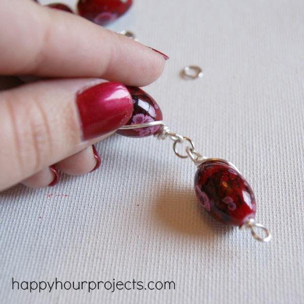 Wire-Wrapped Bead Bracelet