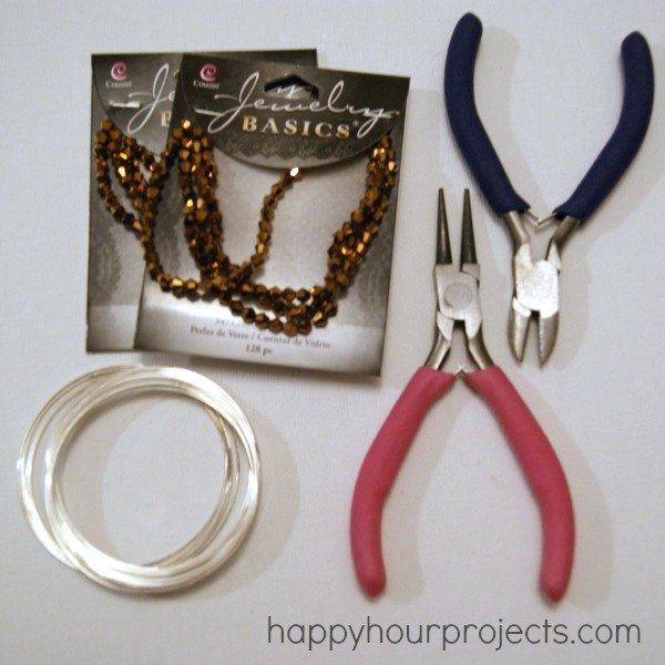 Easy Bronze Memory Wire Bracelet