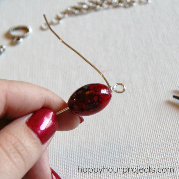 Wire Wrapped Single Bead Necklace