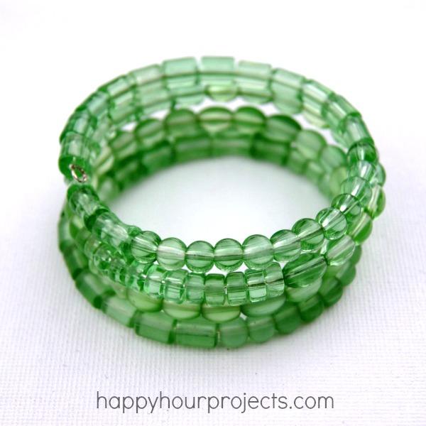 Monochromatic Memory Wire Bracelet