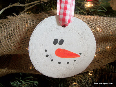Simple Snowman Ornaments