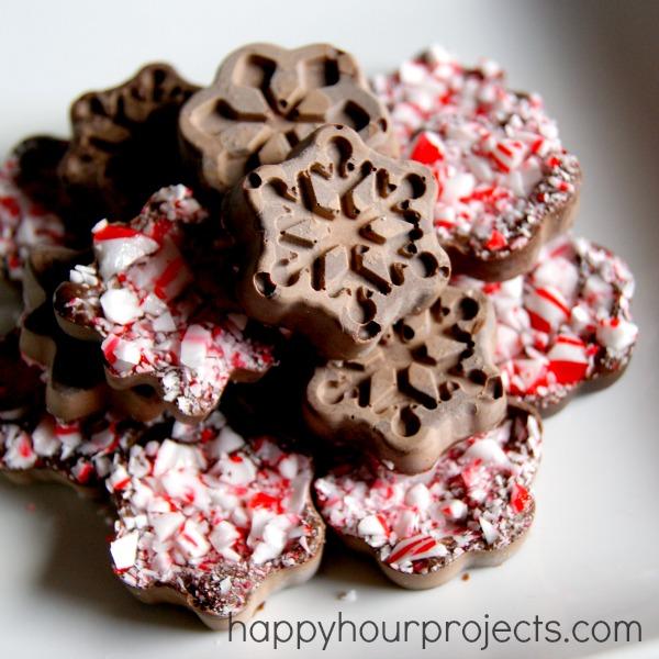 Easy Snowflake Peppermint Bark