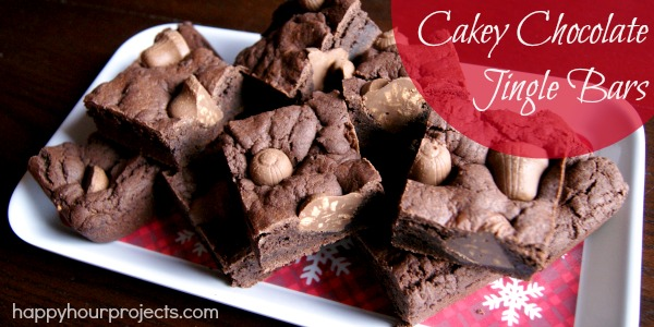 Cakey Chocolate Jingle Bars with Nestle #HolidayCandy