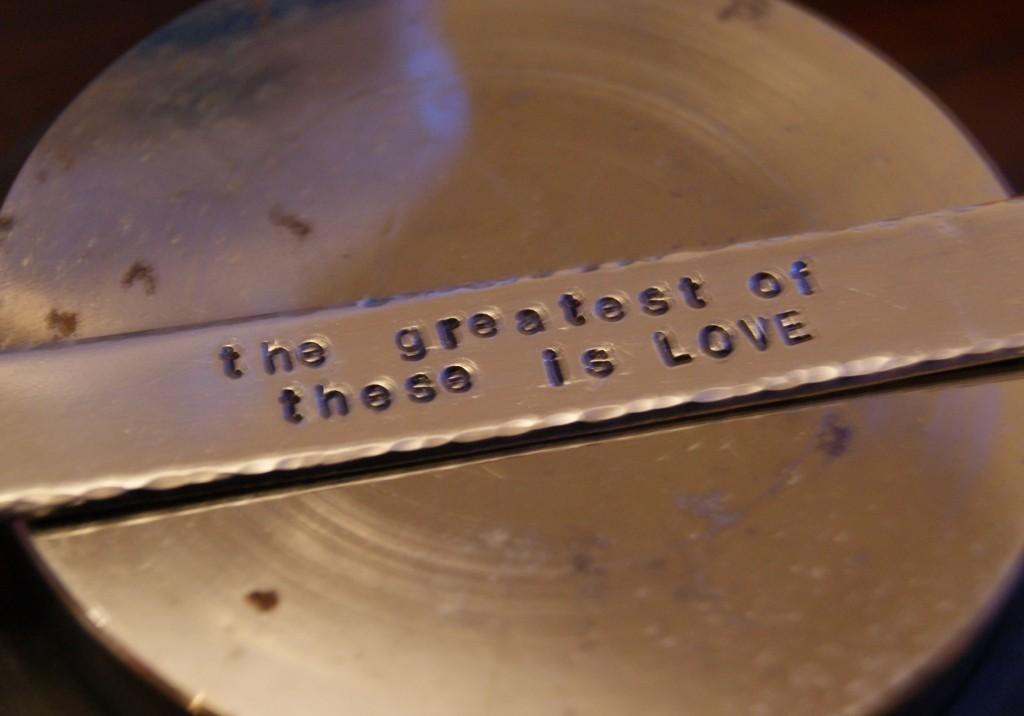Hammered Hand-Stamped Cuff Bracelet