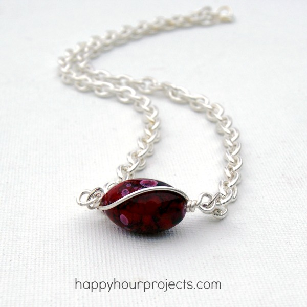 Wire-Wrapped Bead Necklace