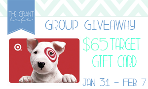 Enter to win a $65 Target Gift Card