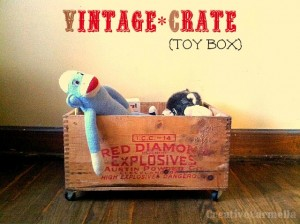 Vintage Crate Toy Box