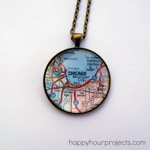 Fabulous Glass Map Necklace - Happy Hour Projects QL22