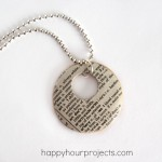 Mod Podge Dictionary Necklace