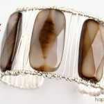 Wire Wrapped Agate Cuff Bracelet
