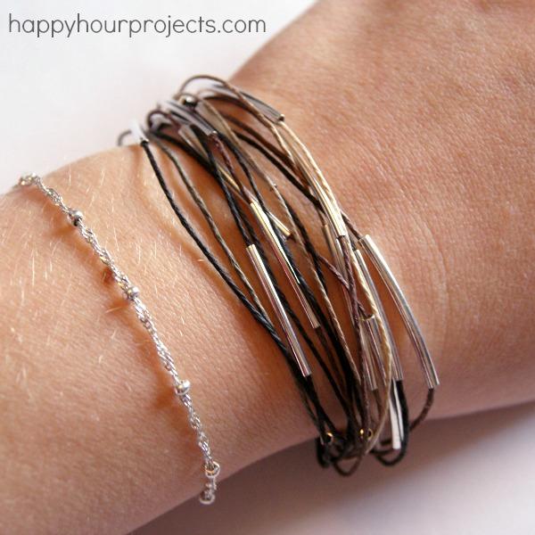 Tube Bead Bracelet
