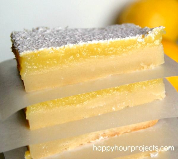 Lemon Pie Bars at www.happyhourprojects.com