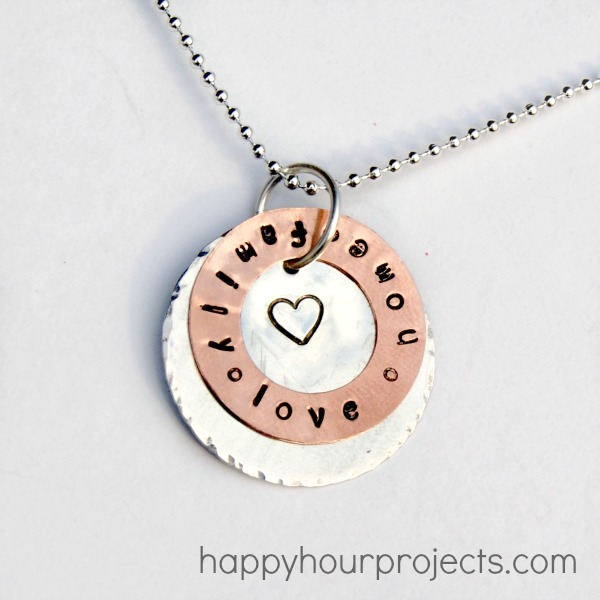 Spring bling week stamped washer necklace happy hour projects stamped washer necklace mozeypictures Gallery