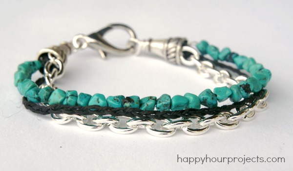 Mixed Media Turquoise Bracelet