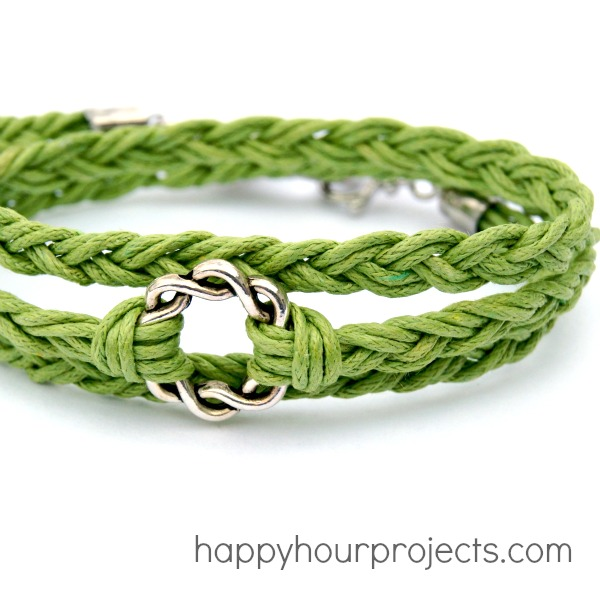 Easy Woven Wrap Bracelet at www.happyhourprojects.com