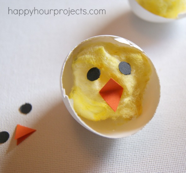 Cotton Chicks from Easter Eggs