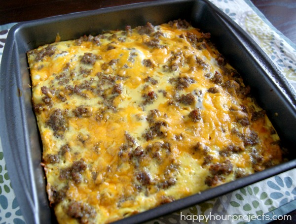 Sausage & Egg Breakfast Casserole - Happy Hour Projects