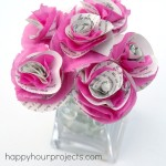 Book Page & Tissue Flowers