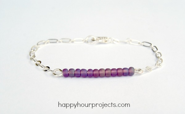 Bead and Chain Mixed Media Bracelet