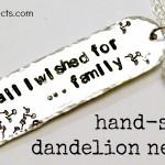 Hand Stamped Dandelion Wish Necklace