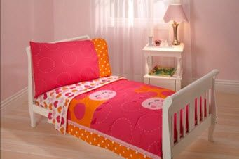 girl bedding ladybug