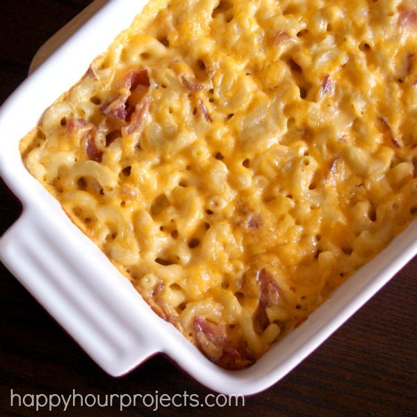 Bacon Mac & Cheese at happyhourprojects.com
