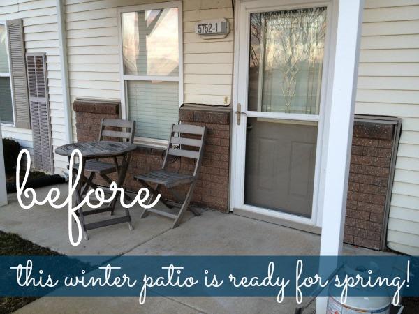 winter yard - before photo