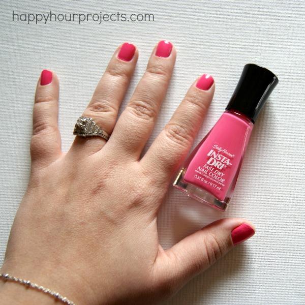 Chevron Tip Manicure with Sally Hansen Nail Polish