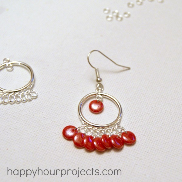 Tangerine Chandelier Earrings Happy Hour Projects
