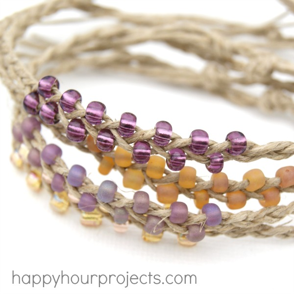 Braided Bead and Hemp Bracelets Happy Hour Projects