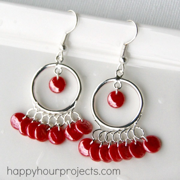 Tangerine chandelier earrings happy hour projects tangerine chandelier earrings aloadofball Image collections
