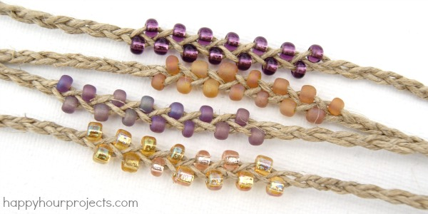 Braided Bead And Hemp Bracelets Hy Hour Projects