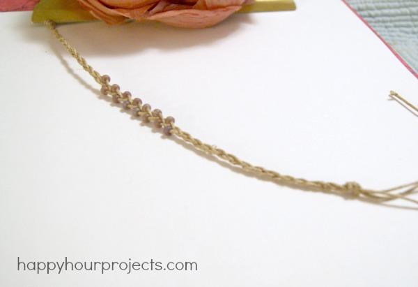 Simple Braided Bead and Hemp Bracelets