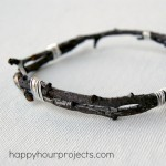 DIY Twig Bangle Bracelet Tutorial at happyhourprojects.com