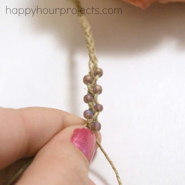 Simple Braided Bead and Hemp Bracelets