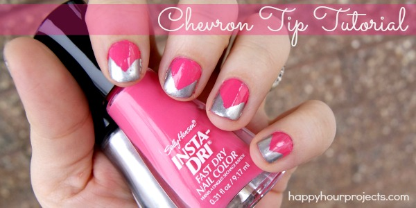 Chevron Tip Manicure with Sally Hansen Nail Polish