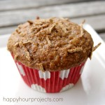Pineapple Raisin Bran Muffins at happyhourprojects.com